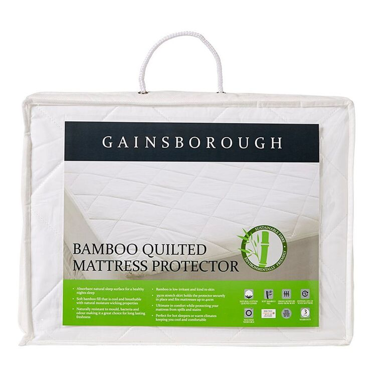 GAINSBOROUGH Bamboo Quilted Mattress Protector QueenBed