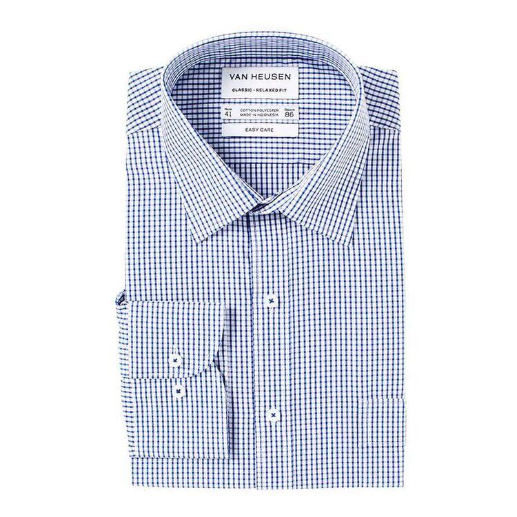 VAN HEUSEN Mens Classic Fit Check Business Shirt