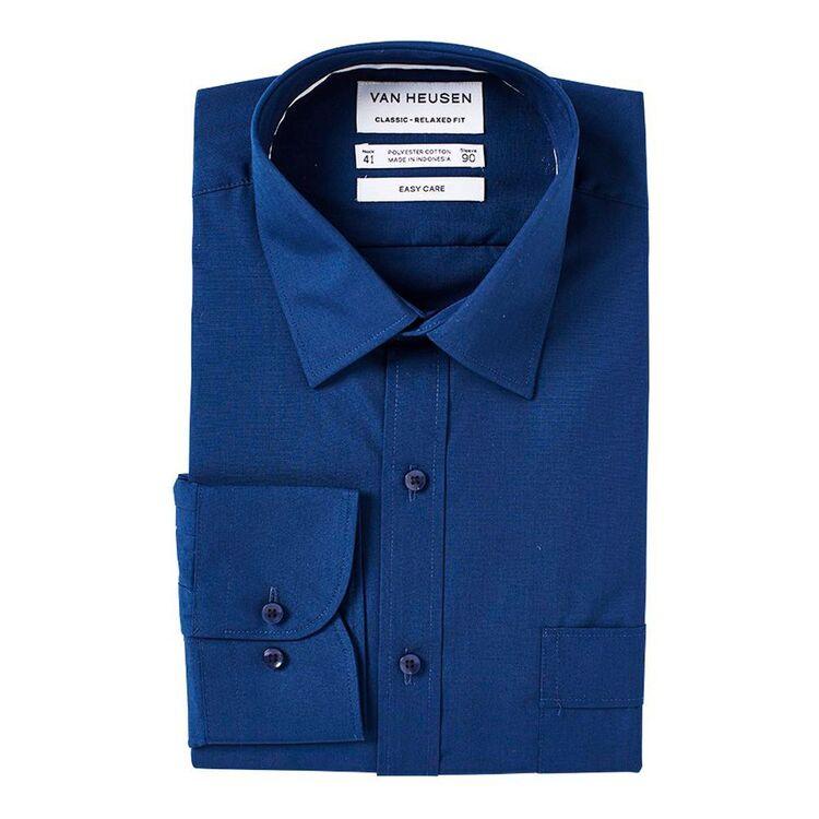 VAN HEUSEN Mens Solid Poplin Classic Fit Business Shirt