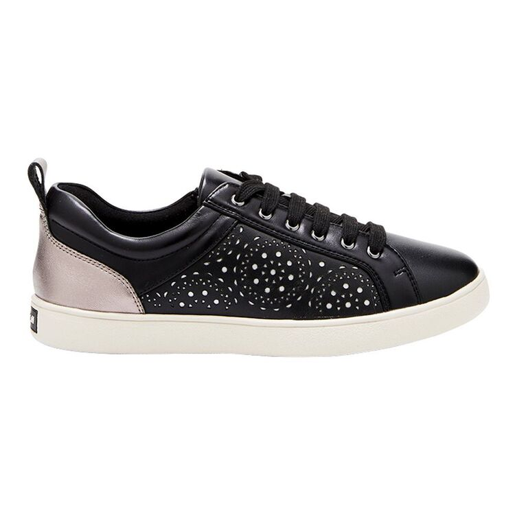 HUSH PUPPIES Peony Leather Perforated Detail Sneaker