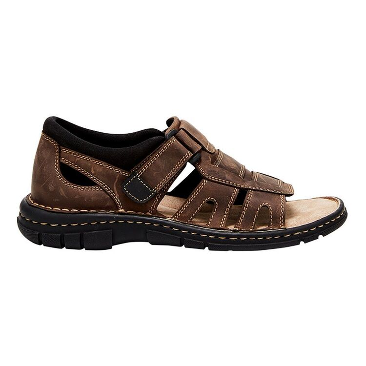 HUSH PUPPIES WHIP CLOSED BACK LEATHER SANDAL