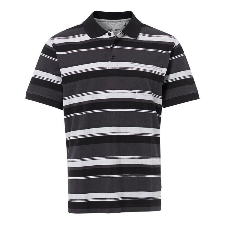 BRONSON CASUAL Mens Calwell Birdseye Cotton Polo