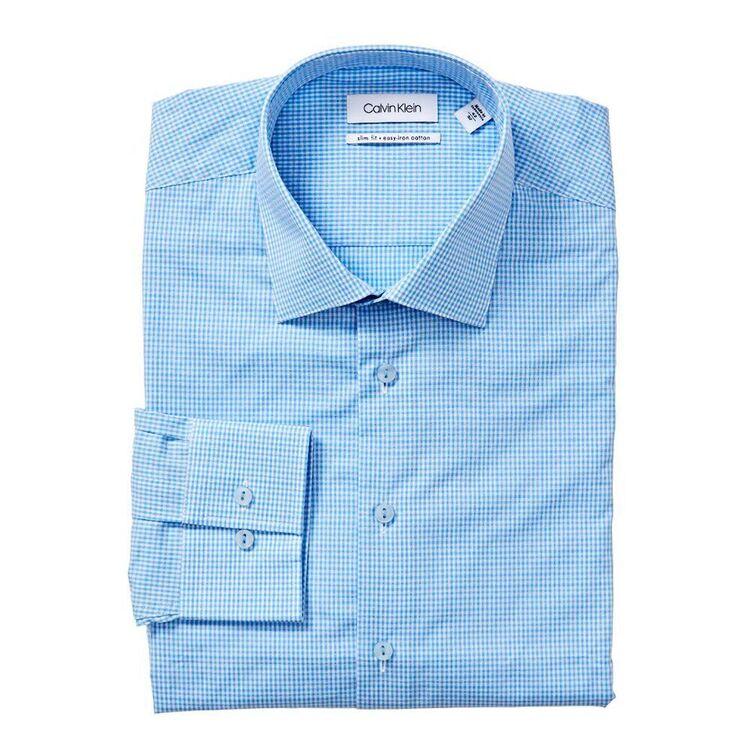 CALVIN KLEIN Long Sleeve Check Business Shirt