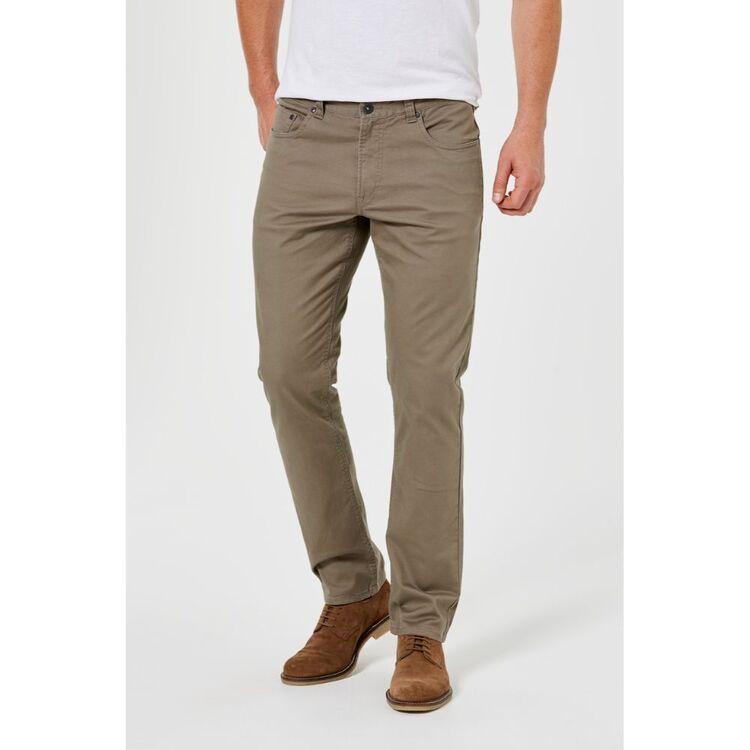 JC LANYON Mens Cannington 5 Pocket Stretch Twill Pant