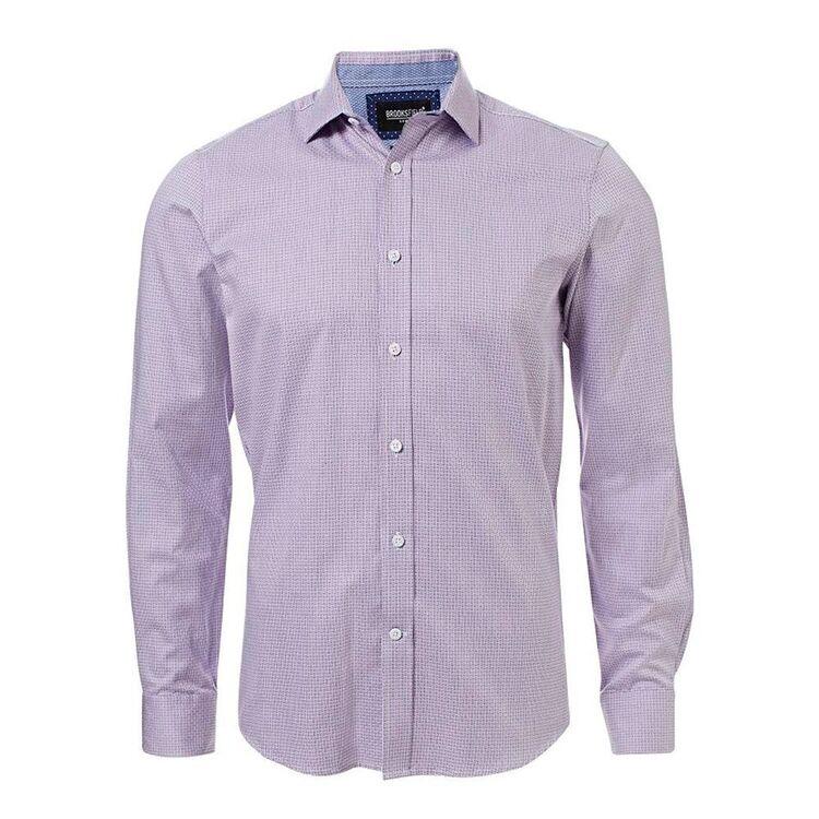 BROOKSFIELD Mens Luxe Long Sleeve Tonal Dobby Shirt