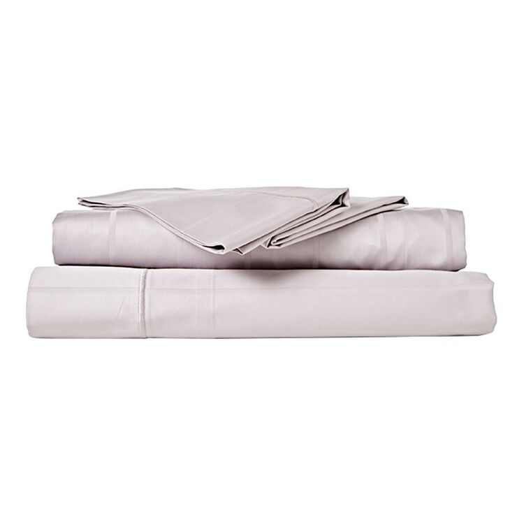 JANE LAMERTON HOME 500 Thread Count Dobby Stripe Cotton Sheet Set Queen Bed