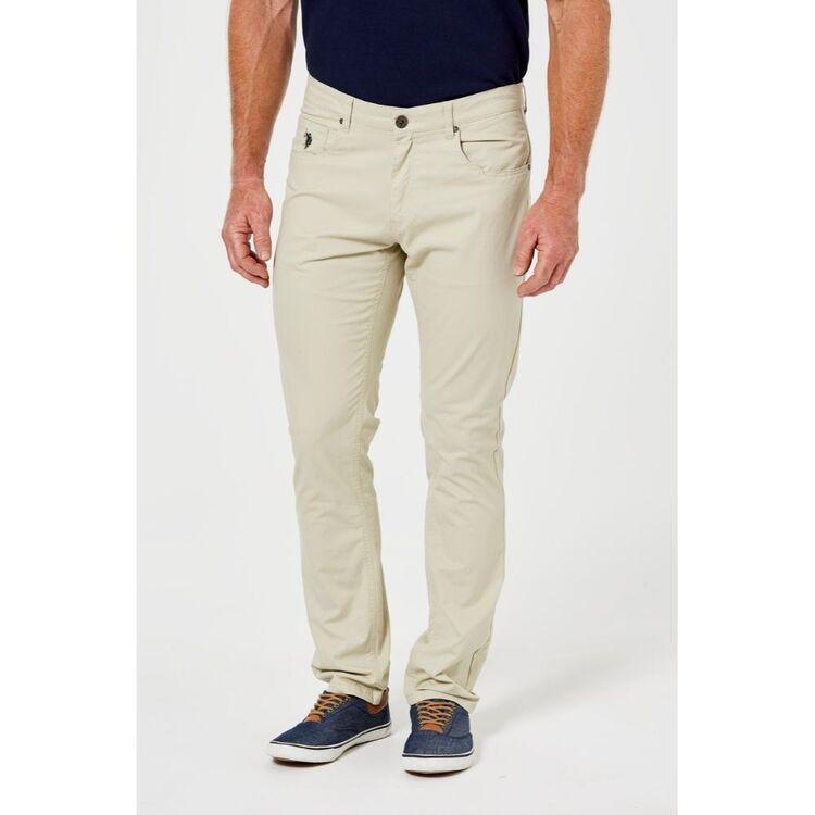 Us Polo Assn U.S. POLO ASSN. Mens 5 Pocket Cotton Twill Pant