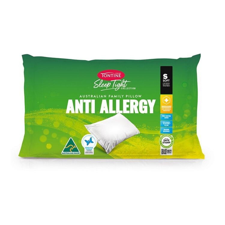 TONTINE Sleeptight Anti Allergy Soft <(>&<)> Low Pillow