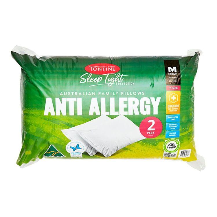 TONTINE Sleeptight Anti Allergy Medium 2pk Pillow