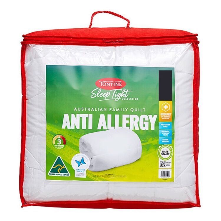 TONTINE Sleeptight Anti Allergy Quilt Queen Bed