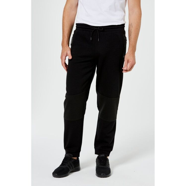 BRONSON CASUAL MENS LINDEN MOTO CUFF TRACKPANT