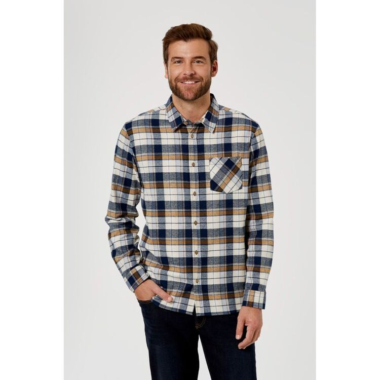 BRONSON CASUAL MENS LISMORE YARN DYED COTTON FLANNELETTE SHIRT