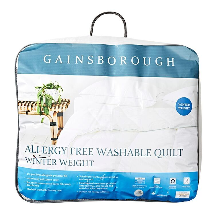GAINSBOROUGH 450GSM ALLERGY FREE QUILT - SINGLE BED