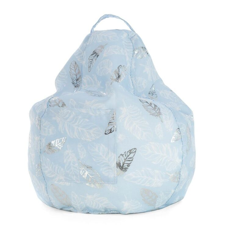 SLUMBER TREK ICRIB IPAD CUSHION BLUE WITH FEATHER FOIL