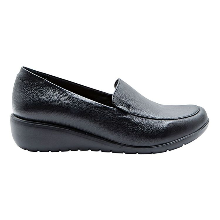 HUSH PUPPIES DIANDRA LEATHER WEDGE HEEL LOAFER