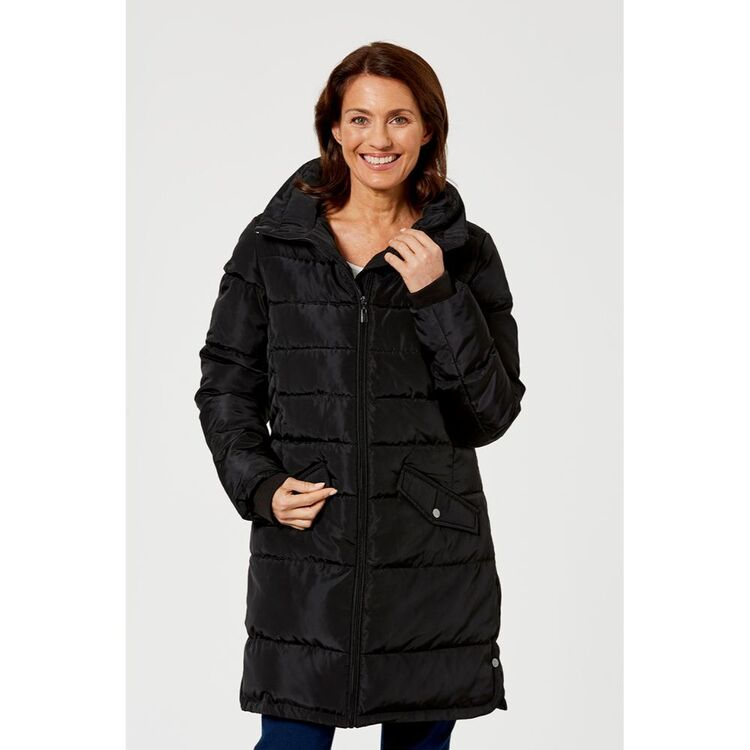 KHOKO COLLECTION LONGLINE QUILTED JACKET