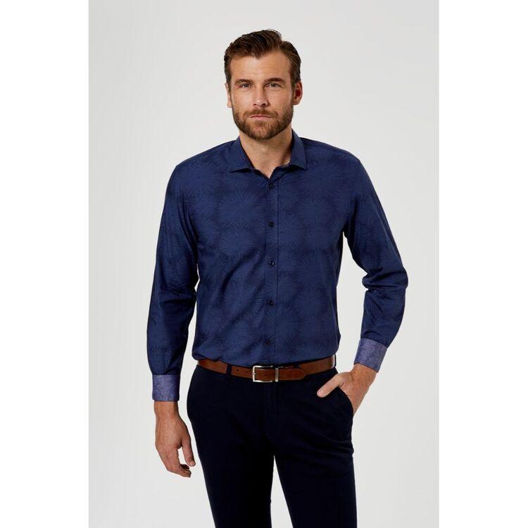 BROOKSFIELD Tonal Jacquard Luxe Business Shirt