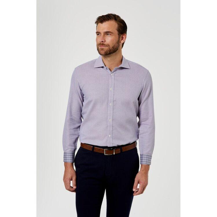 BROOKSFIELD Textured Dobby Luxe Business Shirt