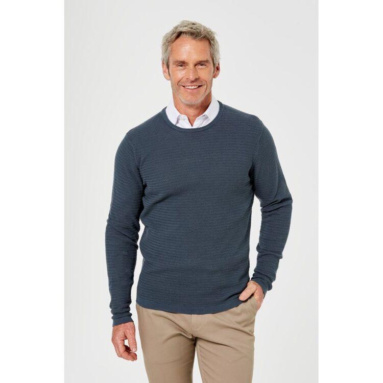 BROOKSFIELD Textured Knit Crew Neck Sweater