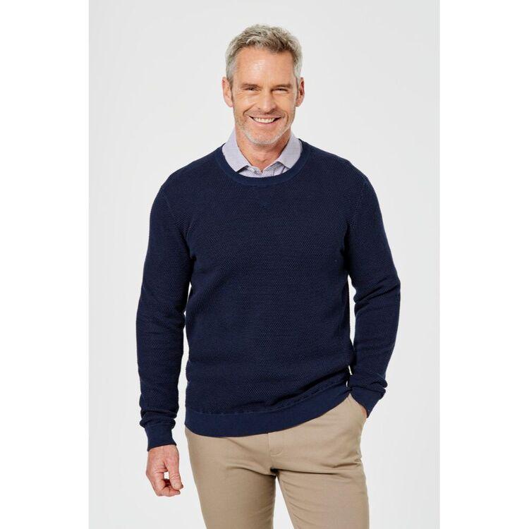 BROOKSFIELD V Panel Crew Knit Sweater