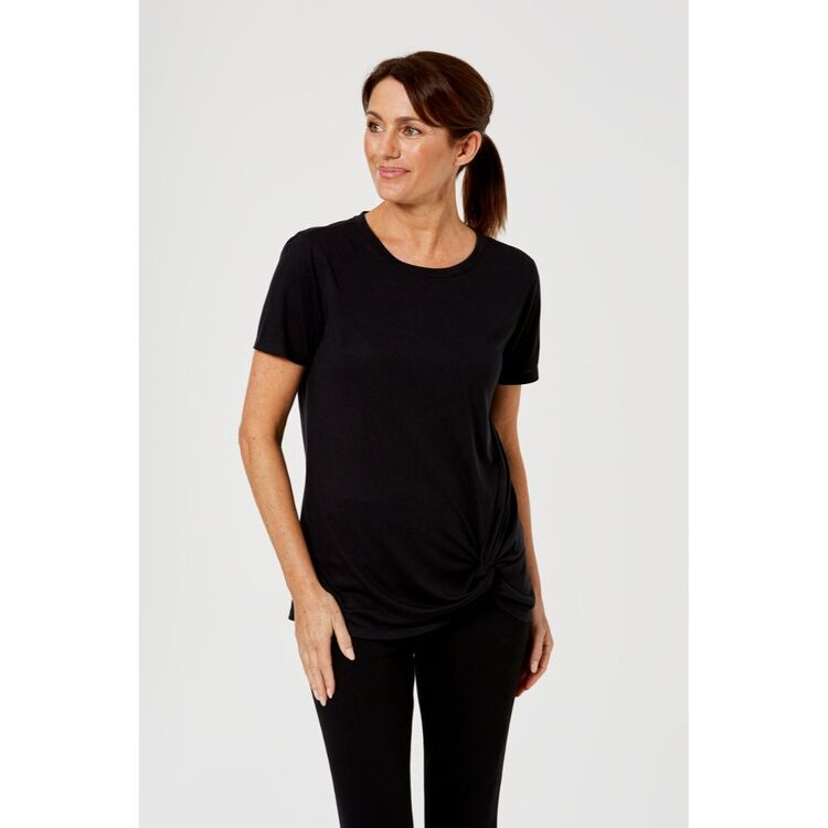 LMA ACTIVE KNOT FRONT TEE