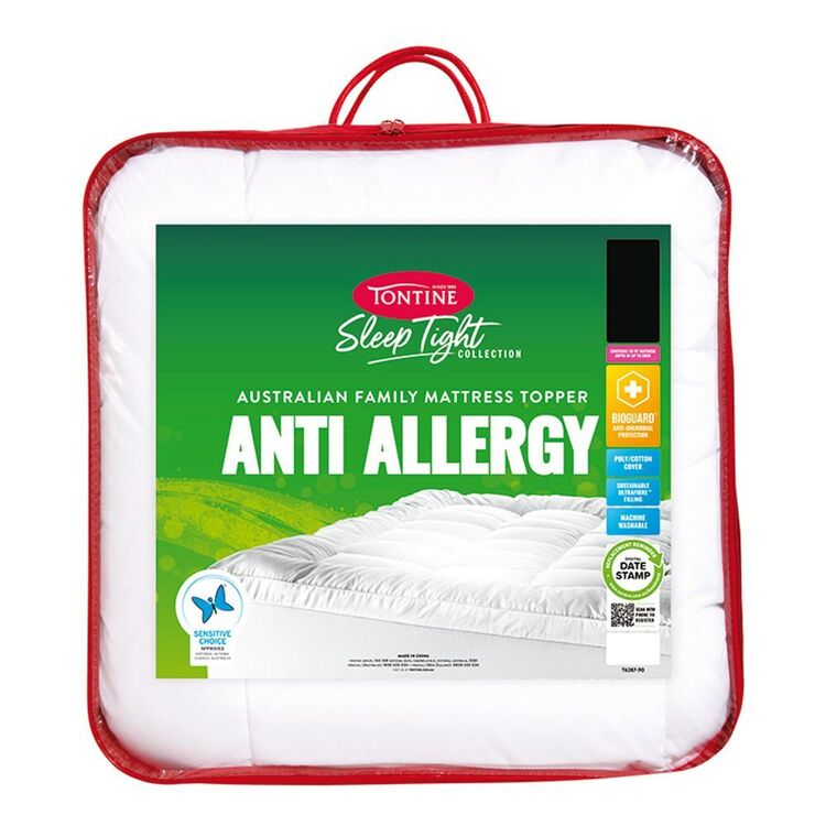 TONTINE Sleep Tight Anti Allergy Topper King Bed