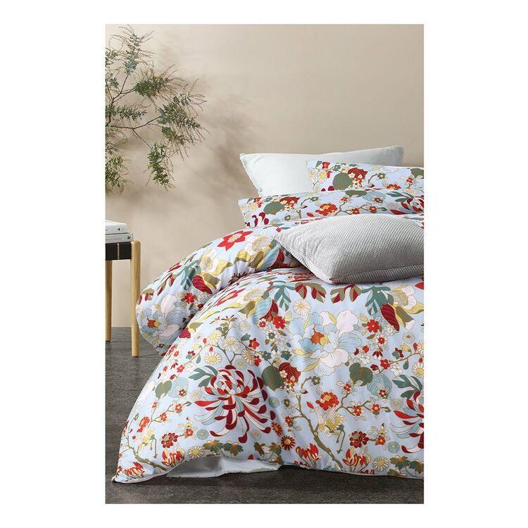 BIG SLEEP  Big Sleep Florent Printed Microfibre Quilt Cover Set QUEEN BED
