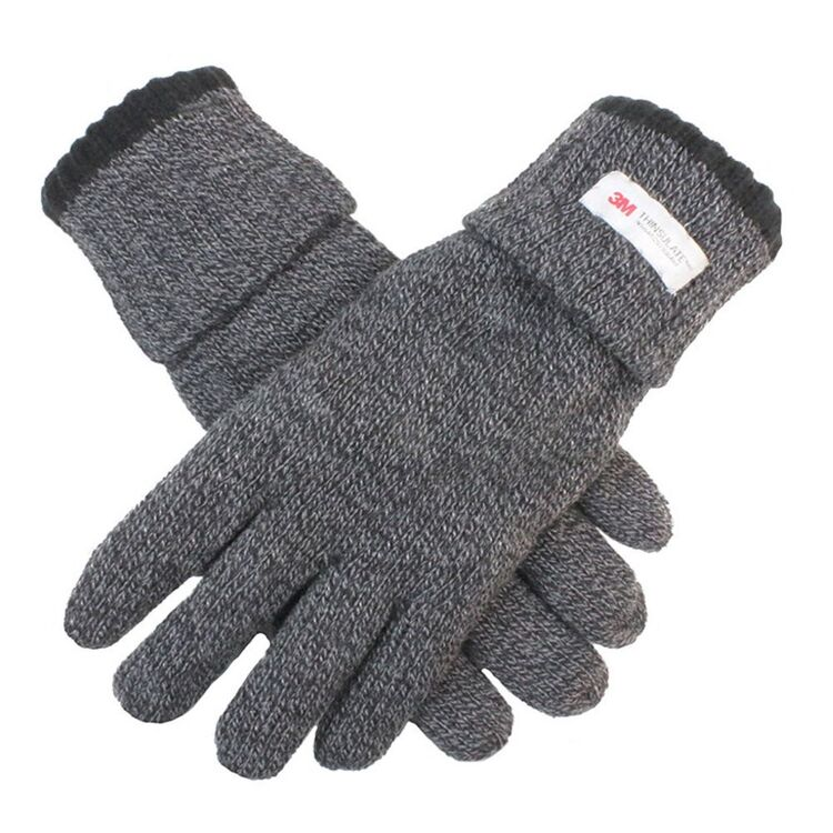 DENTS ROLLOVER CUFF THINSULATE LINED KNIT GLOVES