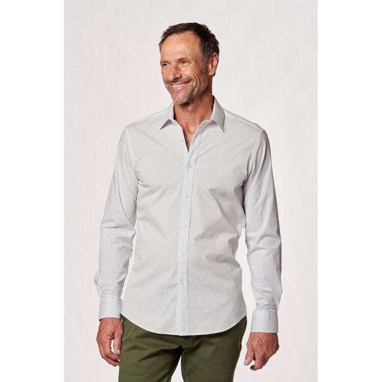 BROOKSFIELD Micro Print Stretch Career Shirt