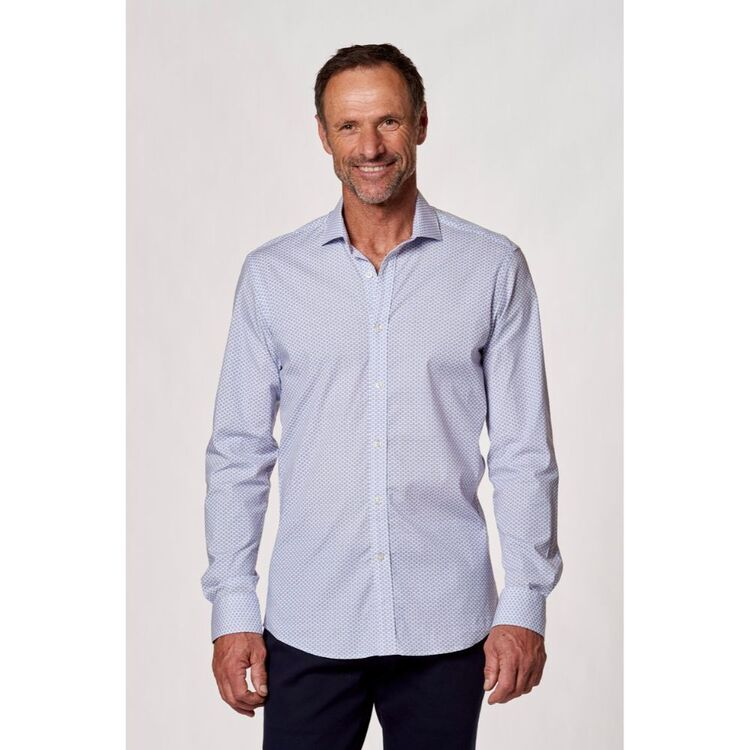 BROOKSFIELD Abstract Print Stretch Career Shirt