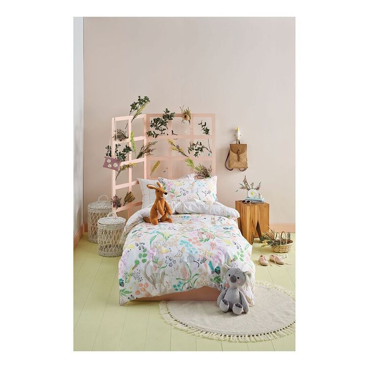 LINEN HOUSE KIDS BUSHWALK QUILT COVER SET SINGLE BED