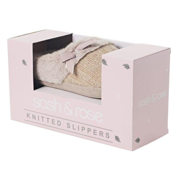SASH & ROSE WOMENS XMAS BOX 1 KNIT CABLE MULE