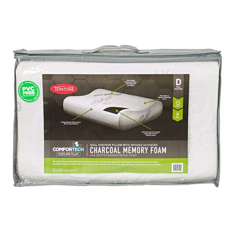 TONTINE COMFORTECH CHARCOAL INFUSED MEMORY FOAMPILLOW CONTOUR
