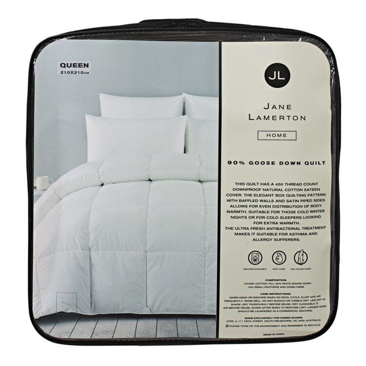 JANE LAMERTON 90/10 GOOSE DOWN <(>&<)> FEATHER QUILT - QUEEN BED