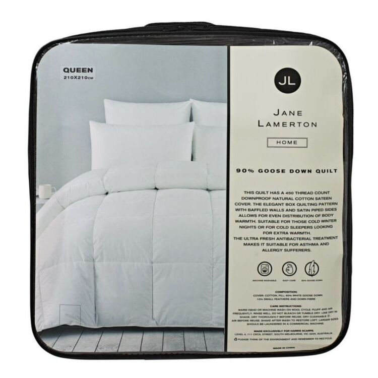 Jane Lamerton Home JANE LAMERTON 90/10 GOOSE DOWN <(>&<)> FEATHER QUILT - KING BED