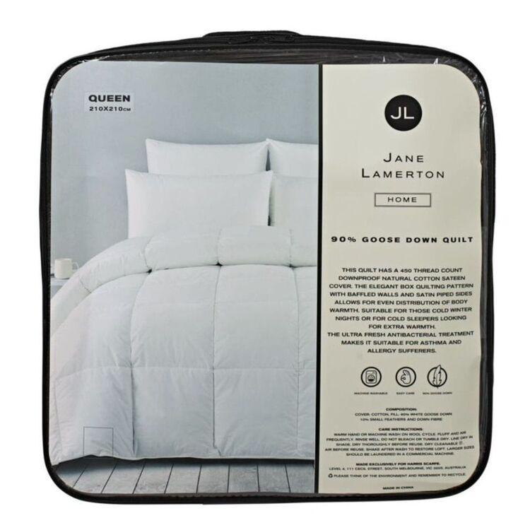 Jane Lamerton Home JANE LAMERTON 90/10 GOOSE DOWN <(>&<)> FEATHER QUILT - SUPER KING BED