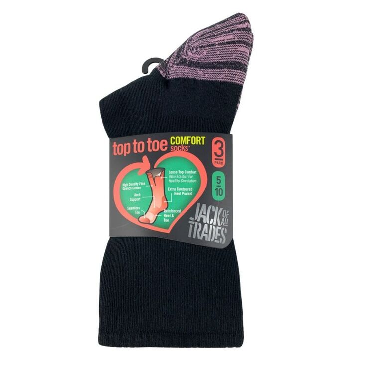 JACK OF ALL TRADES 3pk Cotton Health Comfort Sock