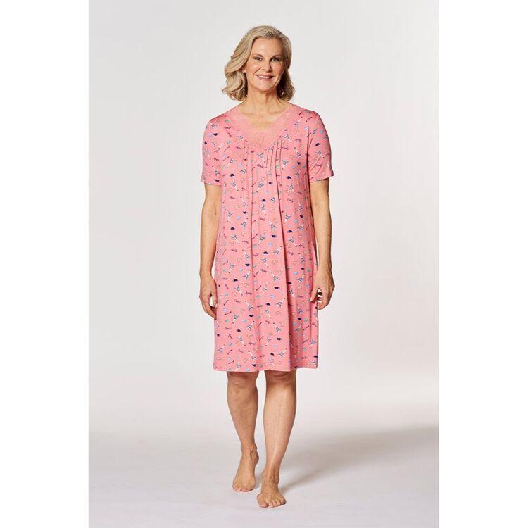 SASH & ROSE Paris Lace Gather Knit Nightie
