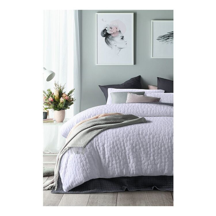 ACCESSORIZE PEBBLE JACQUARD QUILT COVER SET KING BED