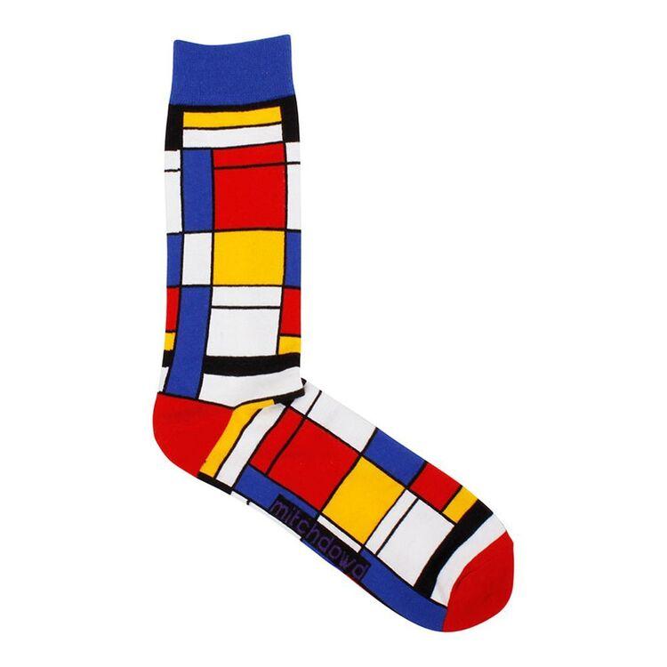 MITCH DOWD Mondrian Art Sock