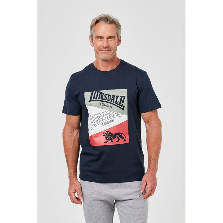 LONSDALE EDGWARE COTTON BRANDED SPORTS TEE