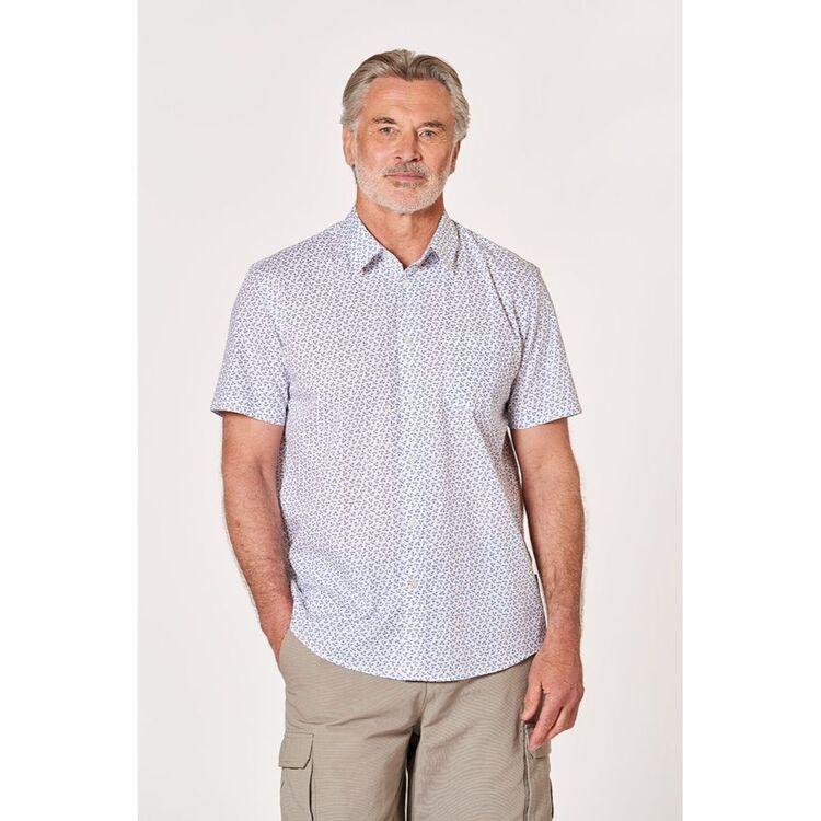 BRONSON CASUAL Windsor Mini Sprig Cotton Short Sleeve Shirt