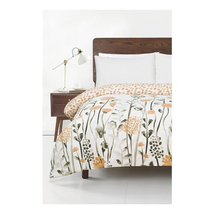 SOREN CLARICE 250 THREAD COUNT COTTON QUILT COVER SET KING BED