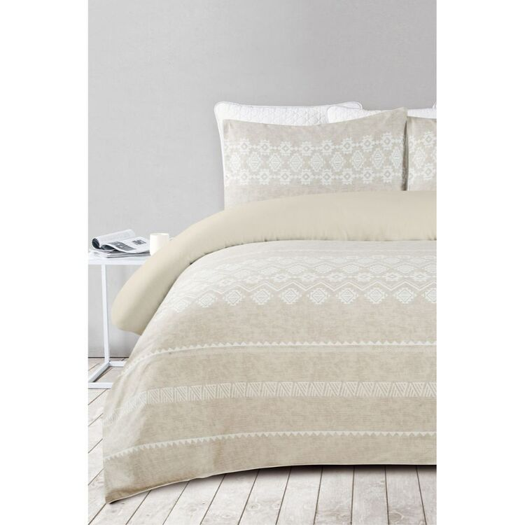 SHAYNNA BLAZE SILOM 300 THREAD COUNT COTTON QUILT COVER SET SUPER KING BED