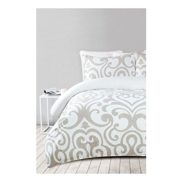 SHAYNNA BLAZE LOMBARDY 300 THREAD COUNT COTTON QUILT COVER SET KING BED