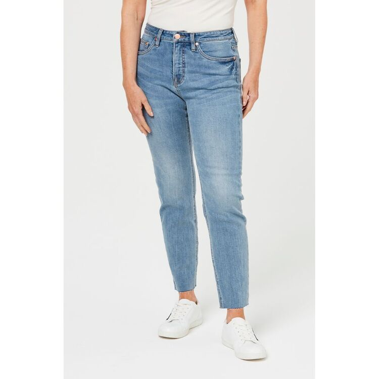 KHOKO COLLECTION GIRL FRIEND TAPERED LEG JEAN