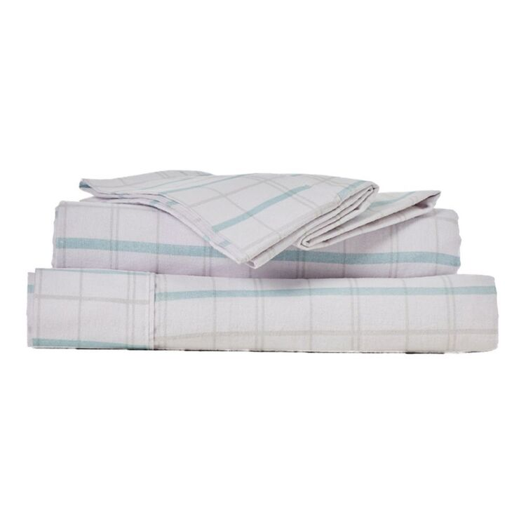 ELYSIAN JAX PRINT FLANNELETTE SHEET SET QUEEN BED