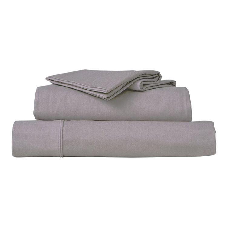 ELYSIAN  PLAIN DYED FLANNELETTE SHEET SET DOUBLE BED