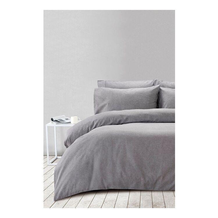 SHAYNNA BLAZE MARLE PRINT FLANNELETTE QUILT COVER SETKING BED