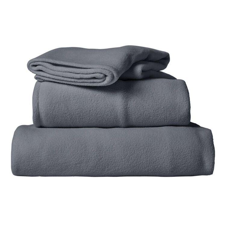 URBANE HOME POLAR FLEECE SHEET SET SINGLE BED
